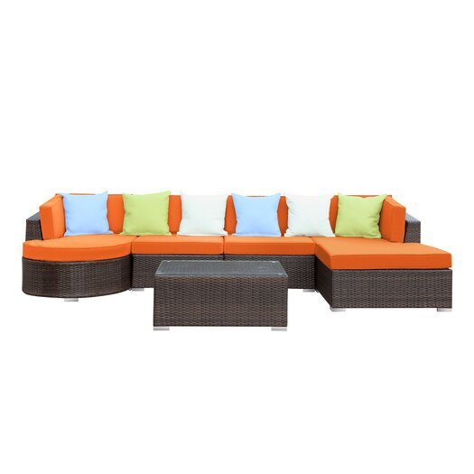 Modway Montana 5 Piece Deep Seating Group with Cushion