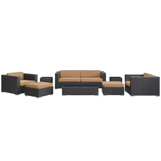 Modway Venice 8 Piece Deep Seating Group with Cushions
