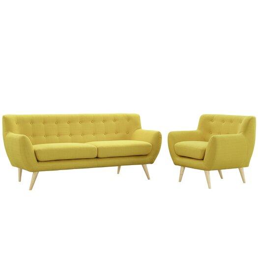 Modway remark 2 piece living room set allmodern for 2 piece living room set