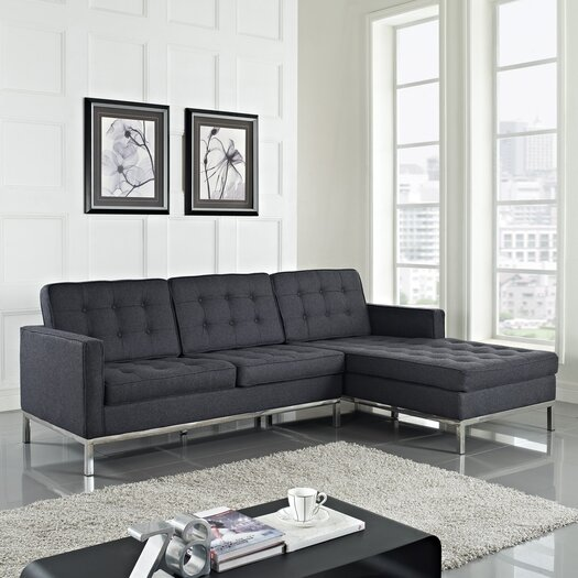 Modway Loft Wool Right Arm Sectional Sofa