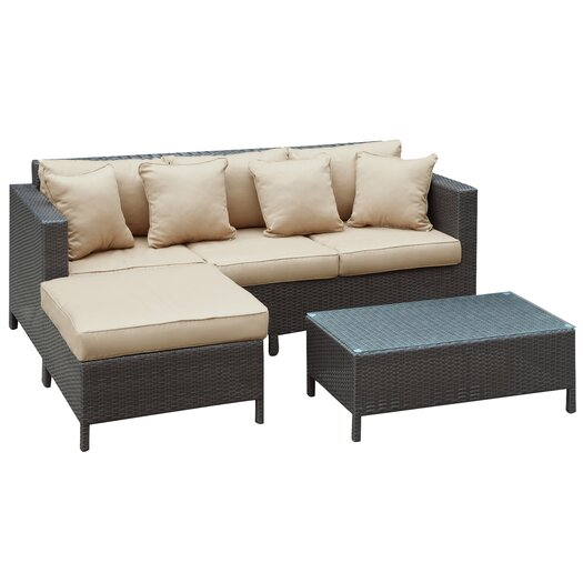Modway Urban 3 Piece Deep Seating Group with Cushions