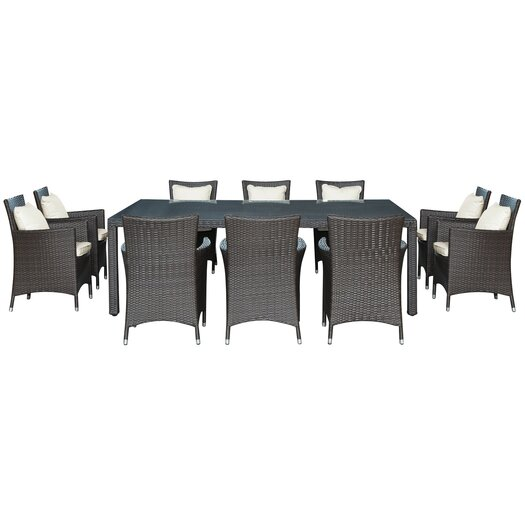 Modway Landscape 11 Piece Outdoor Patio Dining Set
