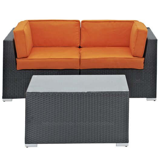 Modway Camfora 3 Piece Sectional Seating Group with Cushion