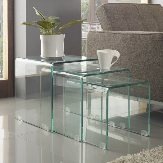 Modway Avalanche 3 Piece Nesting Table Set