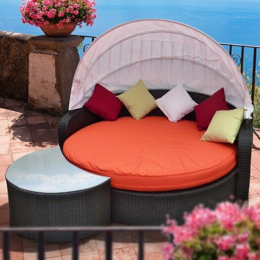 Modway Meridiana Canopy Outdoor Patio Daybed