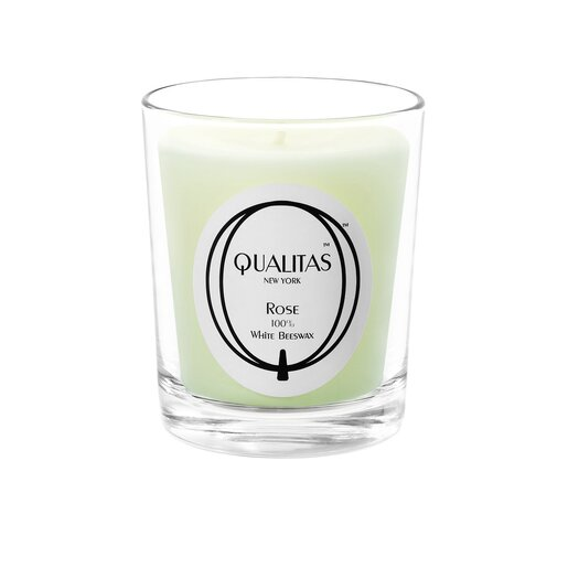 Qualitas Candles Beeswax Rose Scented Candle