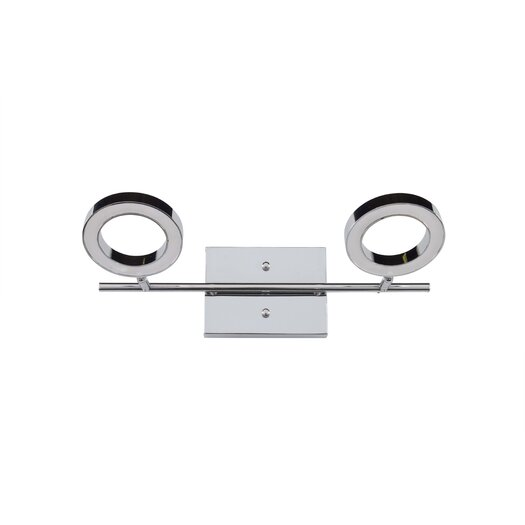 Alternating Current Halo 2 Light LED Vanity Light