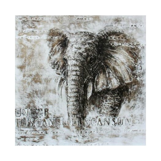 Casabianca Furniture Elephant Framed Painting Print