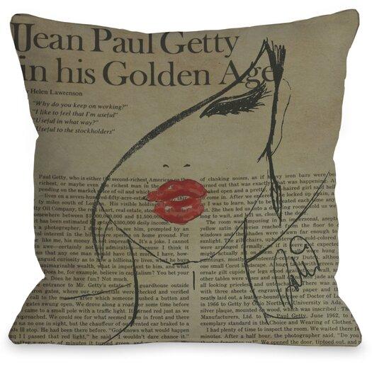 One Bella Casa Oliver Gal Fashionista Pillow