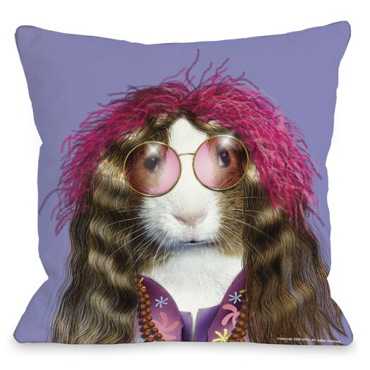 One Bella Casa Pets Rock Hippie Pillow