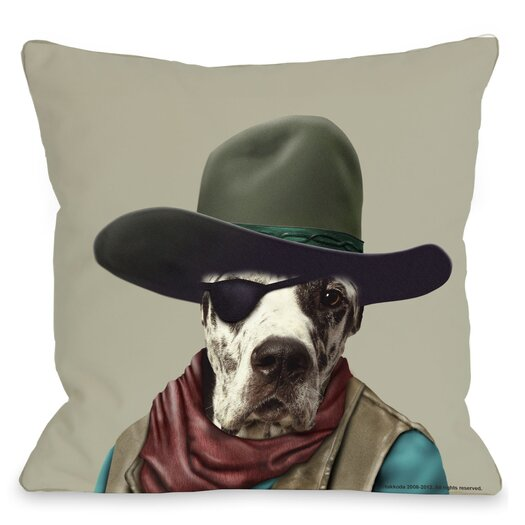 One Bella Casa Pets Rock Cowboy Pillow
