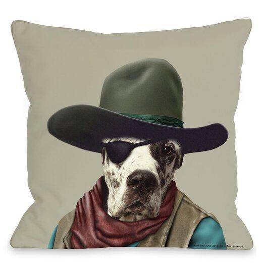One Bella Casa Pets Rock Cowboy Pillow