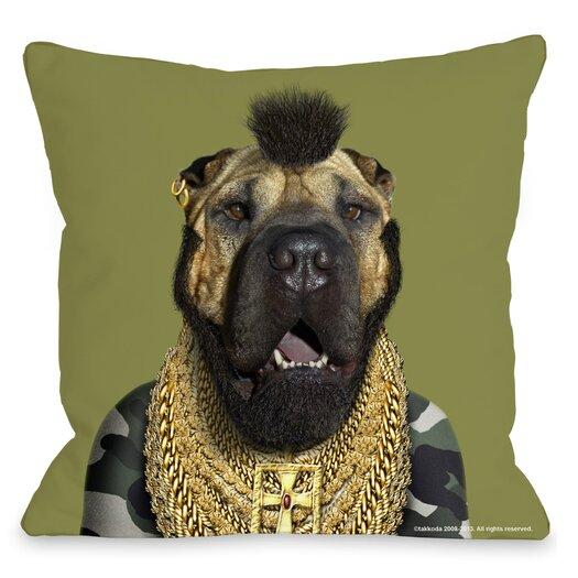 One Bella Casa Pets Rock Fool Pillow
