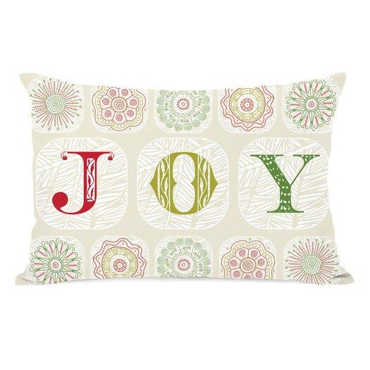 One Bella Casa Holiday Boho Joy Pillow
