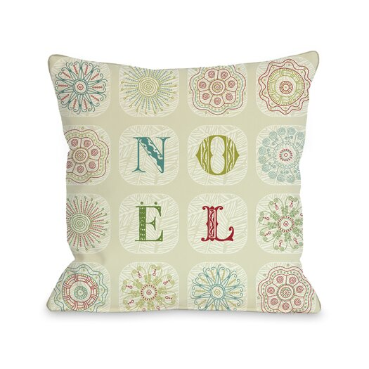 One Bella Casa Holiday Boho Noel Pillow