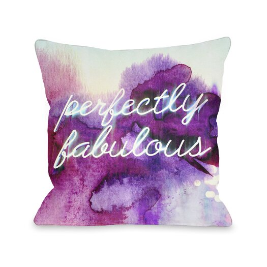 One Bella Casa Perfectly Fabulous Pillow