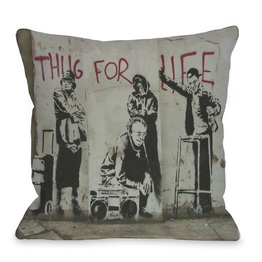 One Bella Casa Thug for Life Bunny Pillow