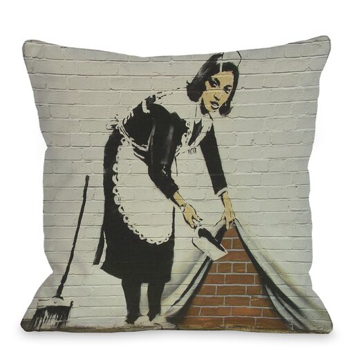 One Bella Casa Under the Rug Throw Pillow