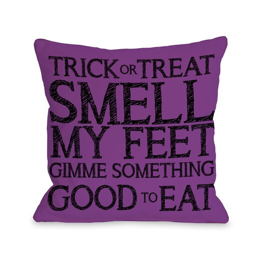 One Bella Casa Trick Or Treat Smell My Feet Pillow