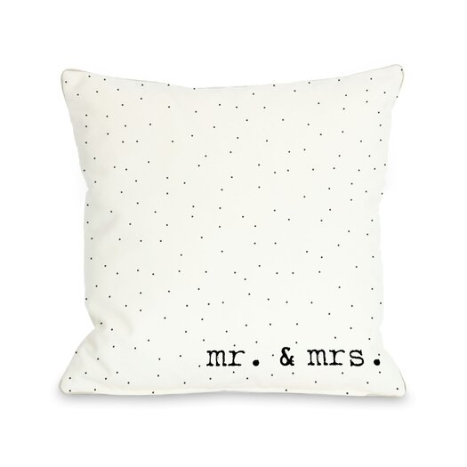 One Bella Casa Mr & Mrs Dots Pillow