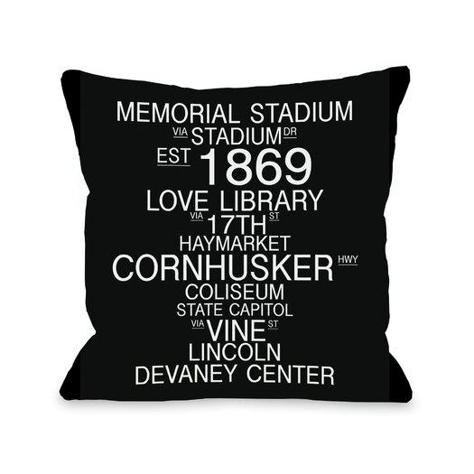 One Bella Casa Lincoln Nebraska Landmarks Pillow