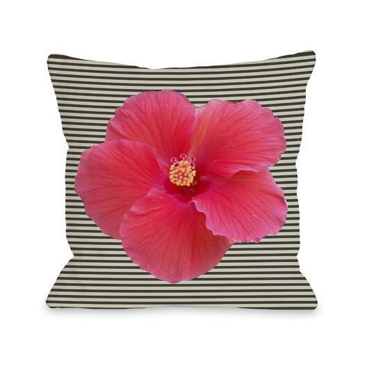 One Bella Casa Melanie Flower Stripe Pillow