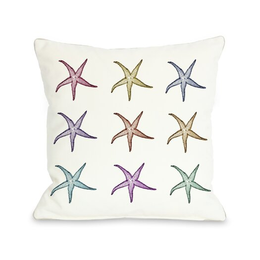 One Bella Casa Starfish Pattern Pillow