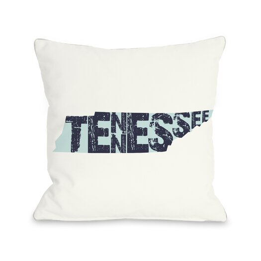 One Bella Casa Tennessee State Type Pillow