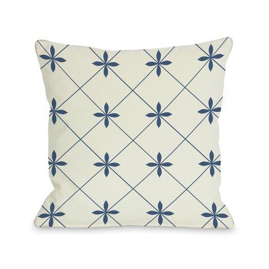 One Bella Casa Crisscross Flowers Pillow