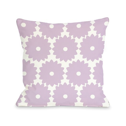 One Bella Casa Gia Flower Print Pillow