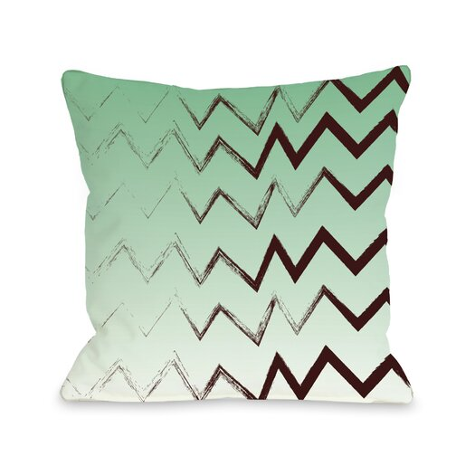 One Bella Casa Charlie Bristle Chevron Pillow