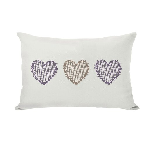 One Bella Casa Love Crosshatch Heart Throw Pillow