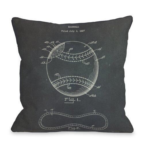 One Bella Casa Baseball 1928 Pillow