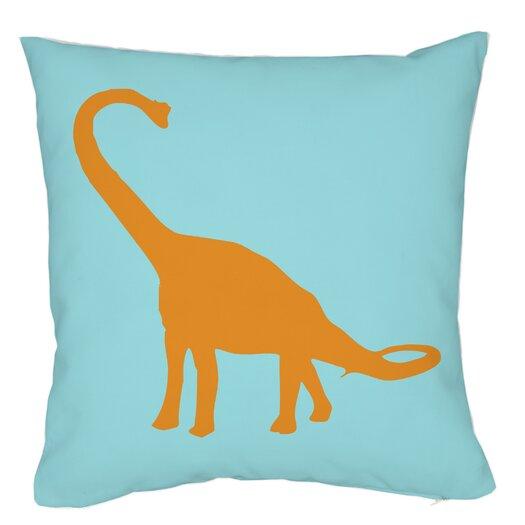 One Bella Casa Apatosaurus Stripes Pillow