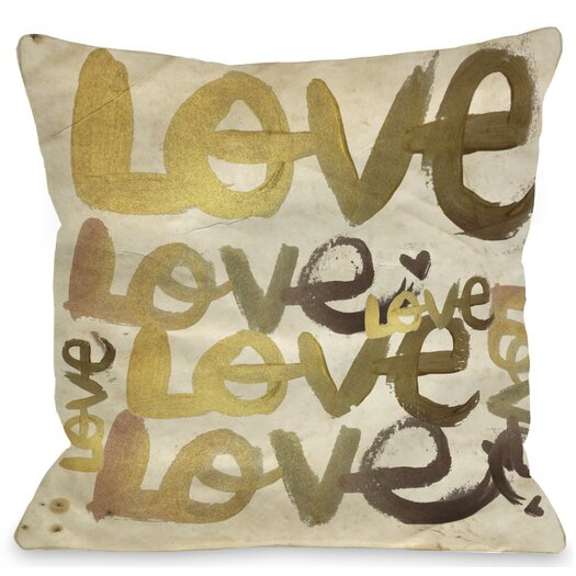 One Bella Casa Oliver Gal Four Letter Word Throw Pillow