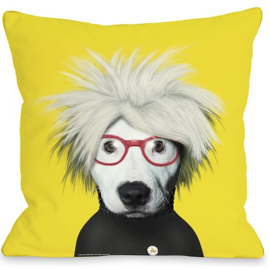 One Bella Casa Pets Rock Soup Throw Pillow