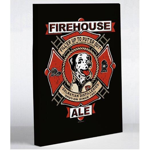 One Bella Casa Doggy Decor Firehouse Ale Graphic Art on Canvas