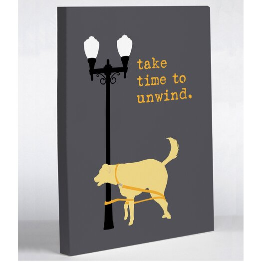 One Bella Casa Doggy Decor Unwind Dog Graphic Art on Canvas