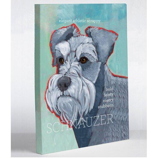 One Bella Casa Doggy Decor Schnauzer 1 Graphic Art on Canvas