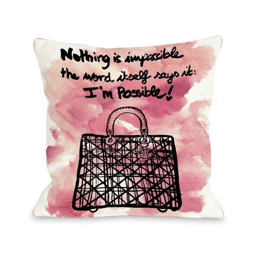 One Bella Casa Oliver Gal Nothing Is Impossible Pillow