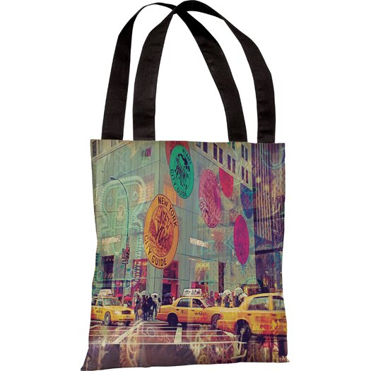One Bella Casa Oliver Gal NYC Fashion Taxi Tote Bag