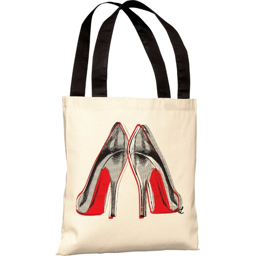 One Bella Casa Oliver Gal Fire in Your New Shoes Tote Bag