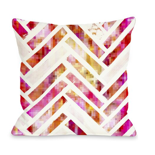 One Bella Casa Oliver Gal Sugar Flake Herringbone Pillow