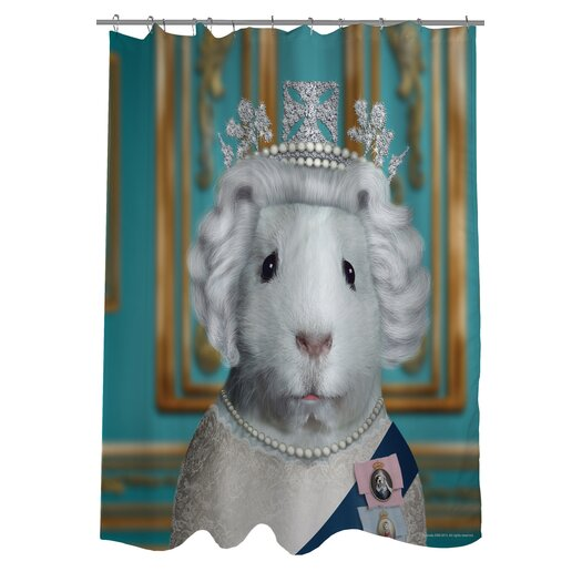 One Bella Casa Pets Rock HRH Polyester Shower Curtain