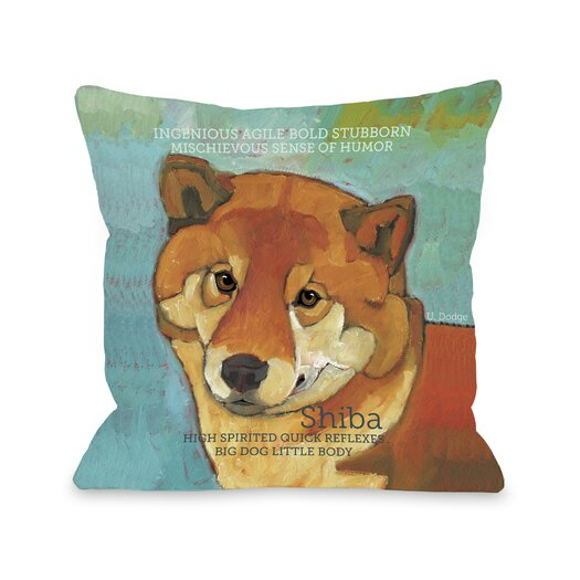 One Bella Casa Doggy Décor Shiba1 Pillow