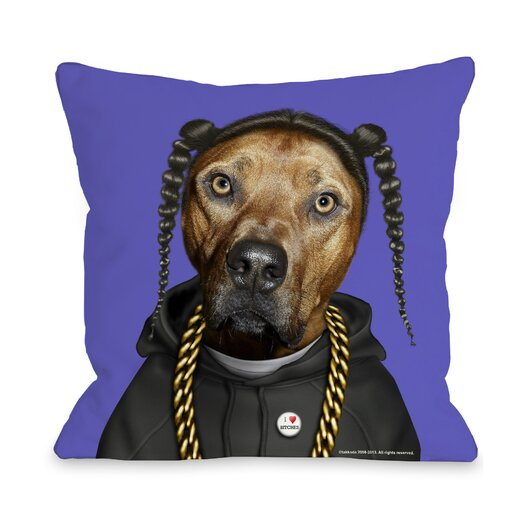 One Bella Casa Pets Rock Rap Pillow