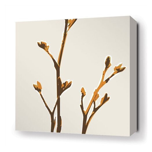 Inhabit Botanicals Axis Stretched Graphic Art on Canvas in Sunshine