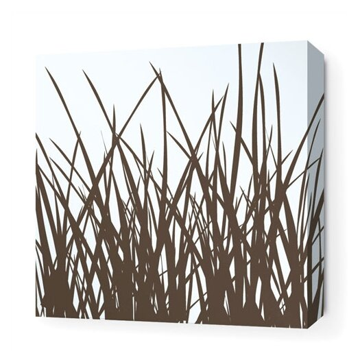 Inhabit Soak Grass Stretched Graphic Art on Canvas