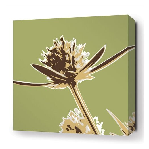Botanicals Propeller Stretched Graphic Art on Canvas in Grass