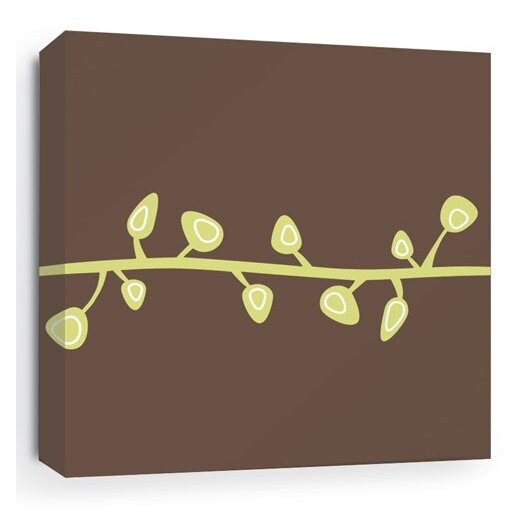 Inhabit Nourish Sprout Stretched Graphic Art on Canvas
